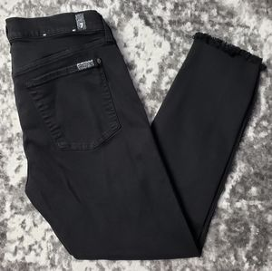 7 for all mankind Distressed Frayed Ankle